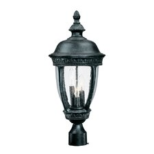 Fleur de Lis 3 Light Outdoor Post Lantern