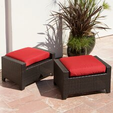 Cantina Club Ottoman with Cushion (Set of 2)