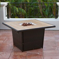Stone Top Table with Firepit