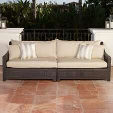 Slate Patio Sofa with Cushions