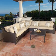 Slate 6 Piece Deep Seating Group with Cushions