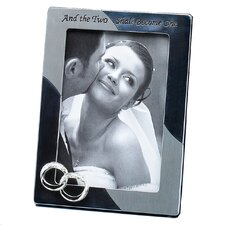 Wedding Double Rings Two Shall Picture Frame