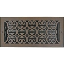 "7.5"" x 15.5"" Scroll Vent with Damper"