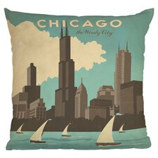 Anderson Design Group Chicago Woven Polyester Throw Pillow