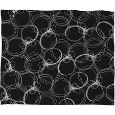 Rachael Taylor Circles Polyester Fleece  Throw Blanket