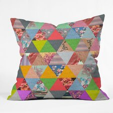 Bianca Green Lost in Pyramid Woven Polyester Throw Pillow