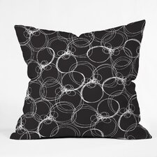 Rachael Taylor Circles Indoor / Outdoor Polyester Throw Pillow