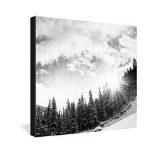 Bird Wanna Whistle Mountain Gallery Wrapped Canvas