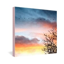 Bird Wanna Whistle Bird Line Gallery Wrapped Canvas