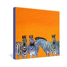 Clara Nilles Candy Stripe Zebras Gallery Wrapped Canvas