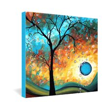 Madart Inc  Aqua Burn Gallery Wrapped Canvas