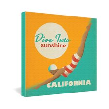 Anderson Design Group Dive California Gallery Wrapped Canvas