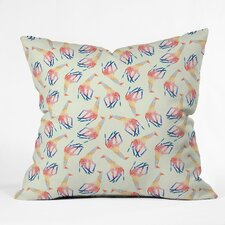 Jacqueline Maldonado Watercolor Giraffe Indoor / Outdoor Polyester Throw Pillow