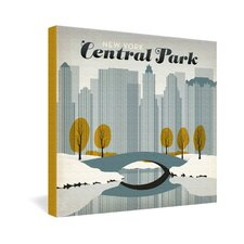 Anderson Design Group Central Park Snow Gallery Wrapped Canvas