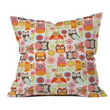 Valentina Ramos Cute Little Owls Polyester Throw Pillow
