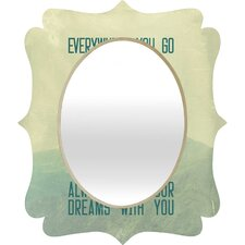 Belle13 Always Take Your Dreams With You Quatrefoil Mirror