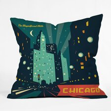 Anderson Design Group Chicago Mag Mile Polyester Throw Pillow