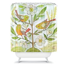 Cori Dantini Woven Polyester Community Tree Shower Curtain