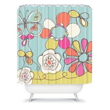 Rachael Taylor Polyester Fun Floral Shower Curtain