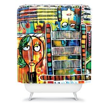 Robin Faye Gates Polyester Musical Chairs Shower Curtain