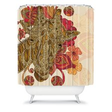 Valentina Ramos Polyester The Giraffe Shower Curtain