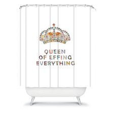 Bianca Woven Polyester Her Daily Motivation Shower Curtain