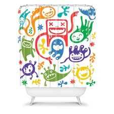 Andi Bird Woven Polyester Misfits Shower Curtain
