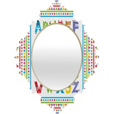 Andi Bird Alphabet Monsters Baroque Mirror