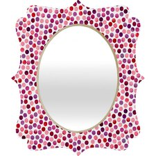 Garima Dhawan Watercolor Dots Berry Quatrefoil Mirror