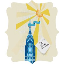 Jennifer Hill New York City Chrysler Building Quatrefoil Magnet Board