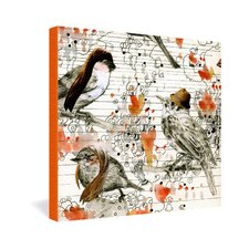 Randi Antonsen Love Birds Canvas Wall Art