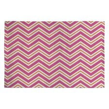 Caroline Okun Berry Pop Chevron Rug