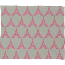 Bianca Green Oui Oui Polyester Fleece Throw Blanket