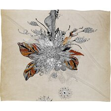 Iveta Abolina Floral 2 Polyester Fleece Throw Blanket