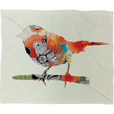 Iveta Abolina Little Bird Polyester Fleece Throw Blanket