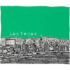 Bird Ave Las Vegas Polyester Fleece Throw Blanket