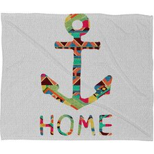 Bianca Green You Make Me Home Polyester Fleece Throw Blanket