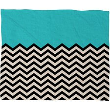 Bianca Green Polyester Fleece Throw Blanket