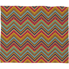 Amy Sia Tribal Chevron Polyester Fleece Throw Blanket