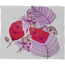 Gabi Sea Leaves Polyester Fleece Throw Blanket