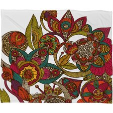 Valentina Ramos Garden Ava Polyester Fleece Throw Blanket