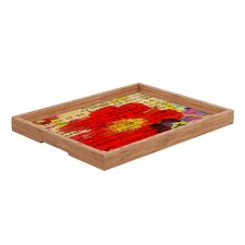 Irena Orlov Poppy Poetry 2 Rectangular Tray