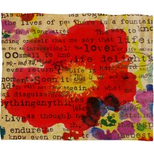 Irena Orlov Poppy Poetry 2 Polyesterrr Fleece Throw Blanket