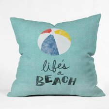 Nick Nelson Lifes A Beach Throw Pillow
