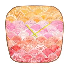 Cori Dantini Warm Spectrum Rainbow Clock