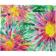 Joy Laforme Floral Confetti Polyesterrr Fleece Throw Blanket