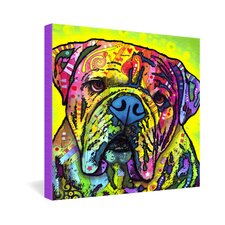 Dean Russo Hey Bulldog Gallery Wrapped Canvas