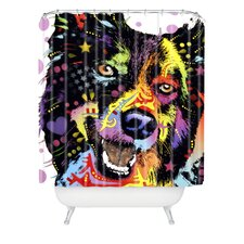 Dean Russo Border Collie Polyesterrr Shower Curtain