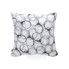 Rachael Taylor Circles Woven Polyester Throw Pillow