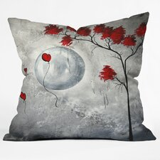 Madart Inc. Far Side Of The Moon Woven Polyester Throw Pillow